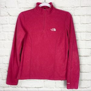The North Face Pink Fleece Quarter Zip Pullover S